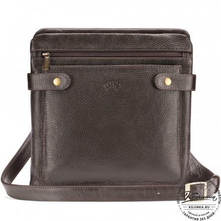"""Кожаная сумка """"Гарольд"""" (коричневая)"""