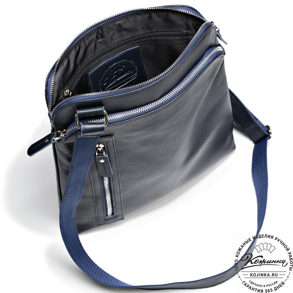 """Кожаная сумка """"Дороти"""" (синяя)"""