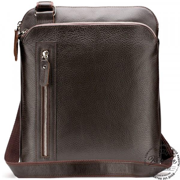 """Кожаная сумка """"Дороти"""" (коричневая). фото 1"""
