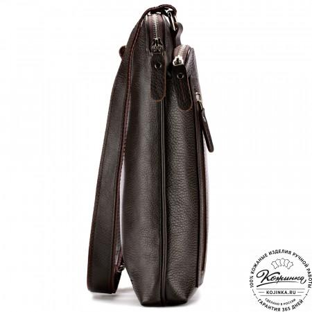 """Кожаная сумка """"Дороти"""" (коричневая)"""