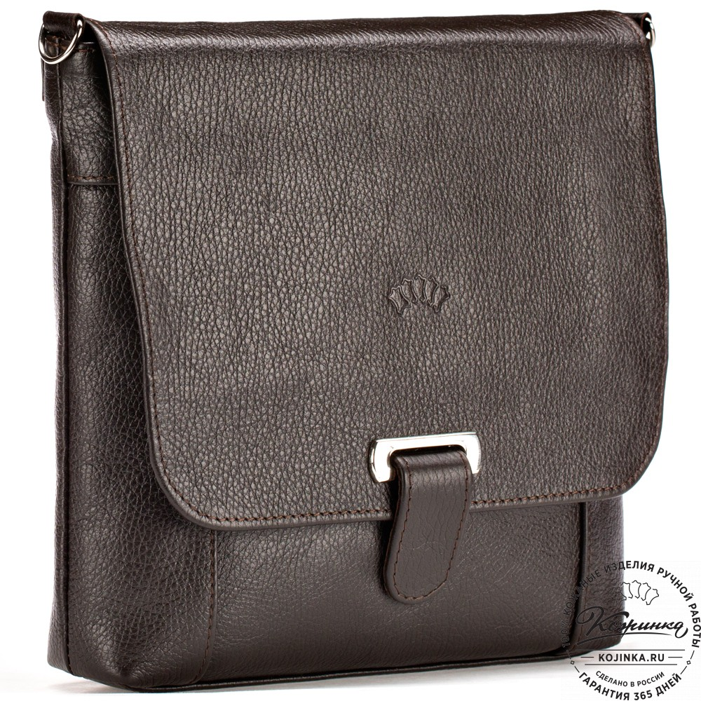 """Кожаная сумка """"Дуглас"""" (коричневая)"""