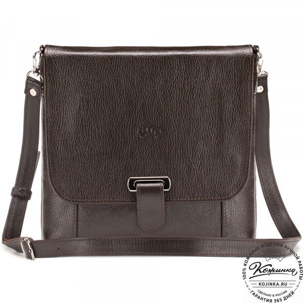 """Кожаная сумка """"Дуглас"""" (коричневая). фото 1"""