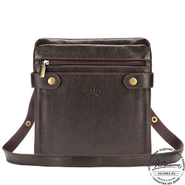 """Кожаная сумка """"Феликс"""" (коричневая) . фото 1"""