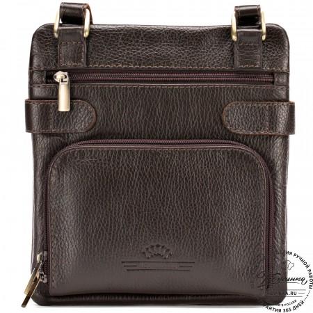 """Кожаная сумка """"Феликс"""" (коричневая)"""