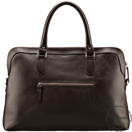 """Женская кожаная сумка """"Аврора"""" (тёмно-коричневая)"""