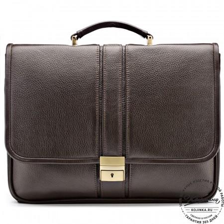 """Кожаный портфель """"Салерно"""" (коричневый)"""
