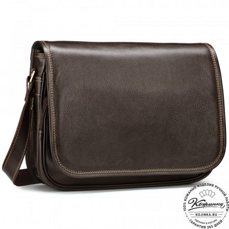 """Кожаная сумка """"Риана"""" (коричневая)"""