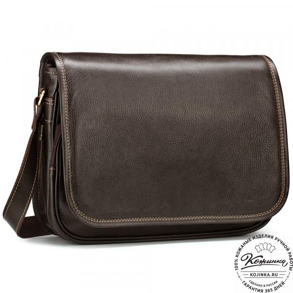 """Кожаная сумка """"Риана"""" (коричневая). фото 1"""