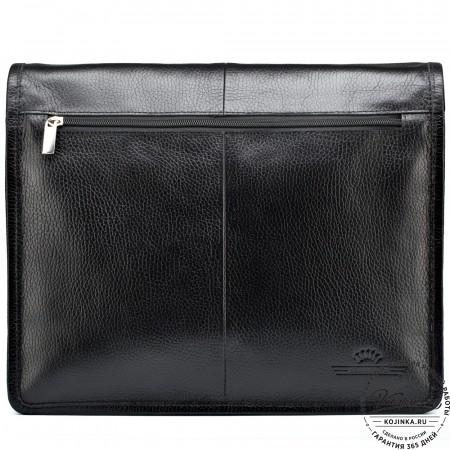 """Кожаная сумка """"Винсент"""" (чёрная)"""