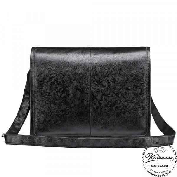 """Кожаная сумка """"Винсент"""" (чёрная). фото 1"""
