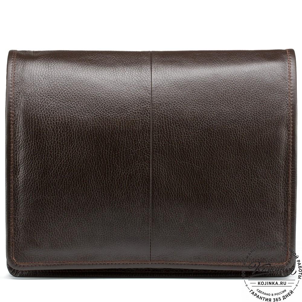"""Кожаная сумка """"Винсент"""" (темно-коричневая)"""