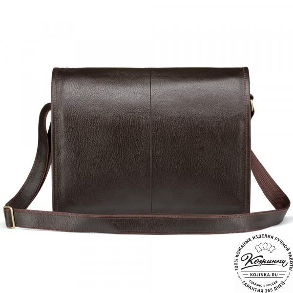 """Кожаная сумка """"Винсент"""" (темно-коричневая). фото 1"""
