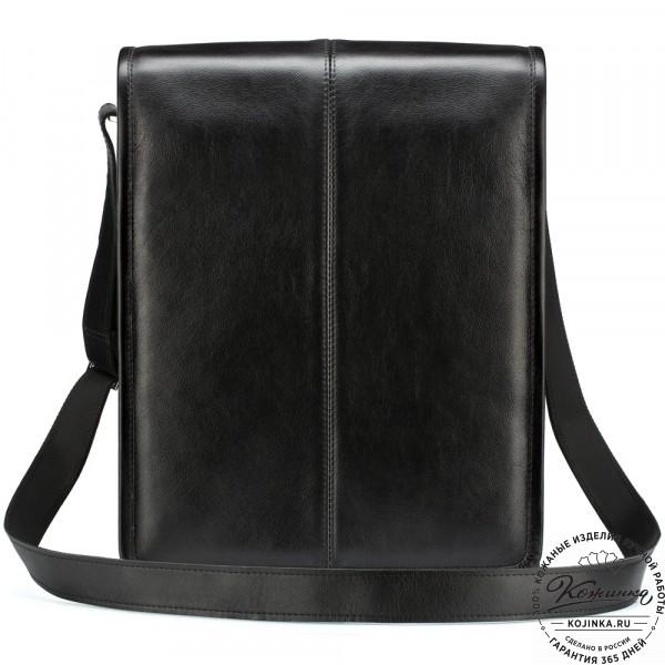 """Кожаная сумка """"Митчел"""" (чёрная). фото 1"""