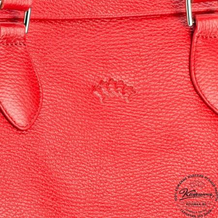 """Женская кожаная сумка """"Аврора"""" (красная)"""