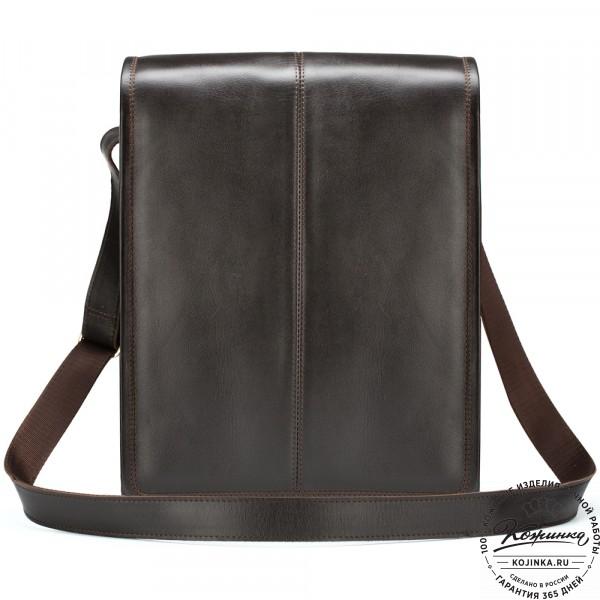 "Кожаная сумка ""Митчел"" (тёмно-коричневая). фото 1"