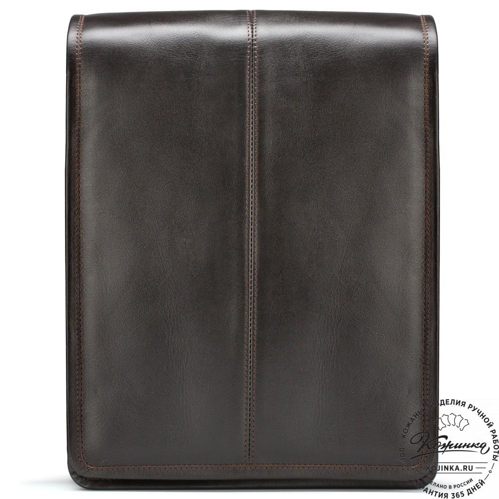 """Кожаная сумка """"Митчел"""" (тёмно-коричневая)"""