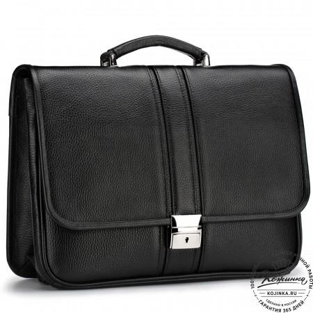 """Кожаный портфель """"Салерно"""" (черный)"""