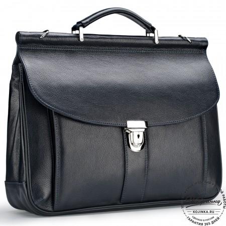 """Кожаный портфель """"Руби"""" (синий)"""