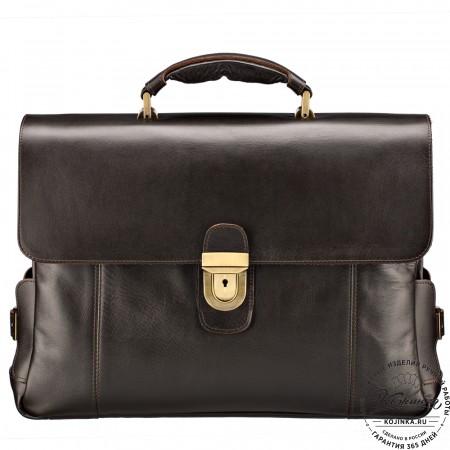"""Кожаный портфель """"Борменталь"""" (коричневый)"""