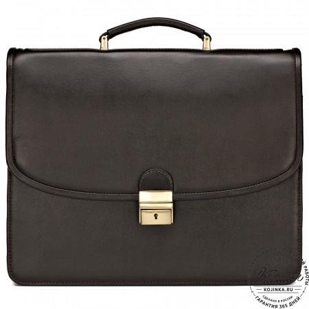 """Кожаный портфель """"Брест"""" (коричневый)"""