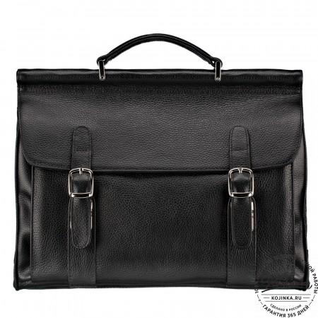 """Кожаный портфель """"Версаль"""" (черный)"""