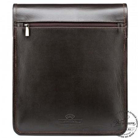 """Кожаная сумка """"Брэндон"""" (тёмно-коричневая)"""
