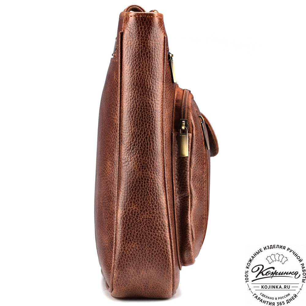 """Кожаная сумка """"Боб"""" (светло-коричневая)"""