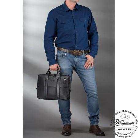 """Кожаная деловая сумка """"Карлос"""" (рыжая)"""