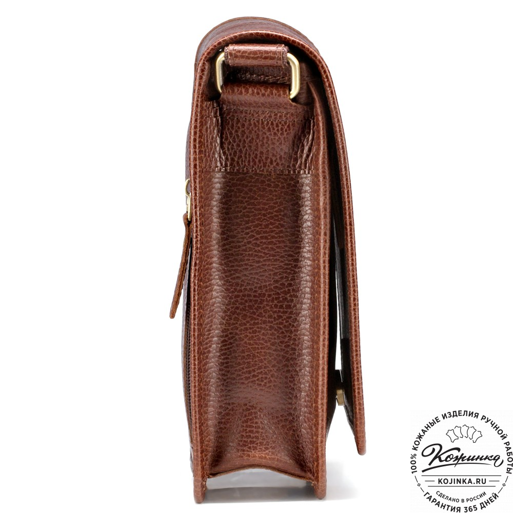 """Кожаная сумка """"Митчел мини"""" (светло-коричневая)"""