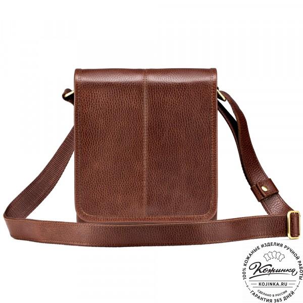 "Кожаная сумка ""Митчел мини"" (светло-коричневая). фото 1"