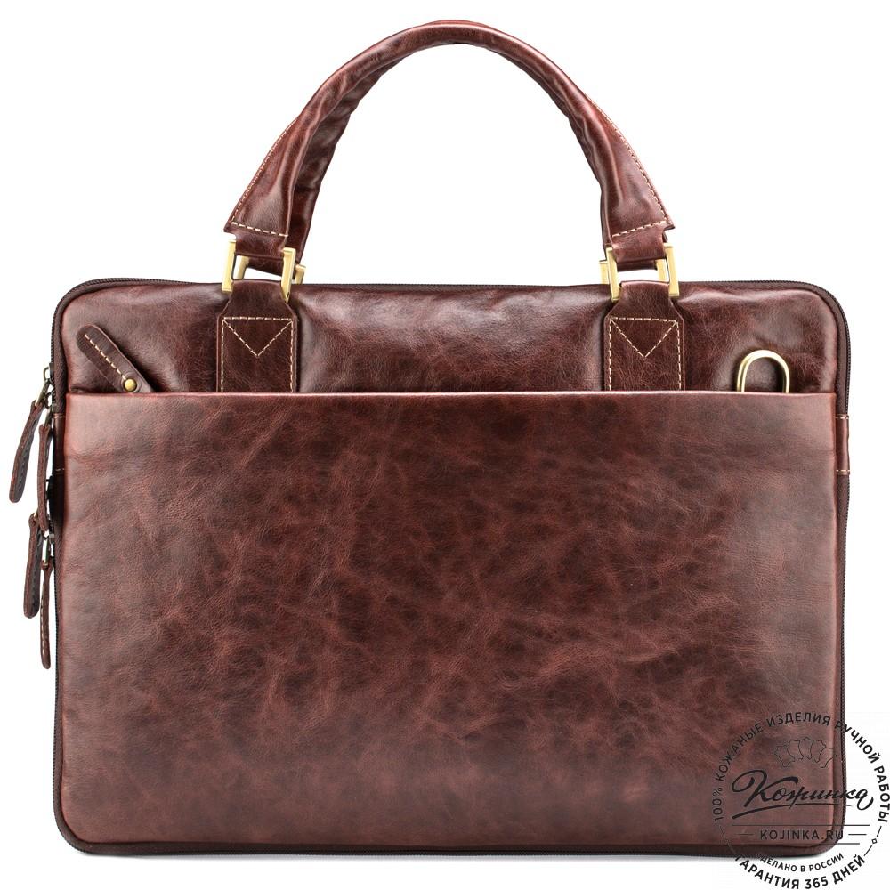 """Кожаная деловая сумка """"Ральф"""" (коричневый антик)"""