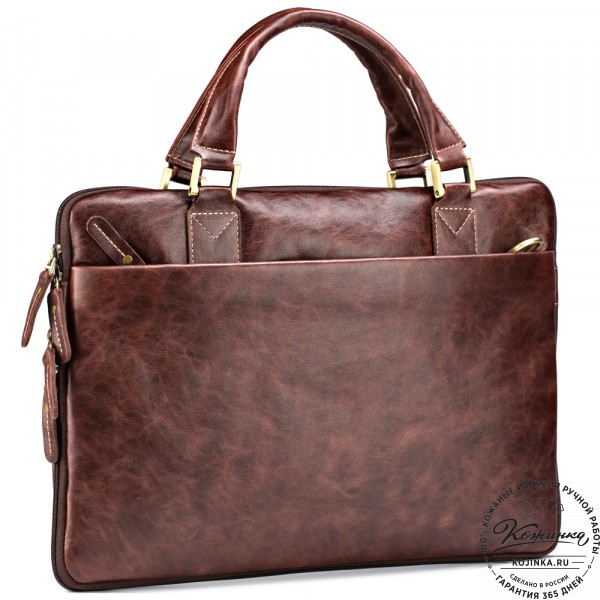 """Кожаная деловая сумка """"Ральф"""" (коричневый антик) . фото 1"""