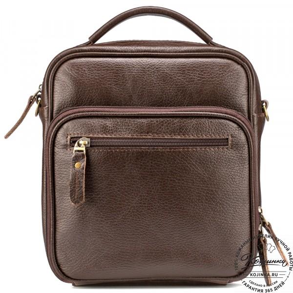 """Кожаная сумка """"Тедди"""" (коричневая). фото 1"""