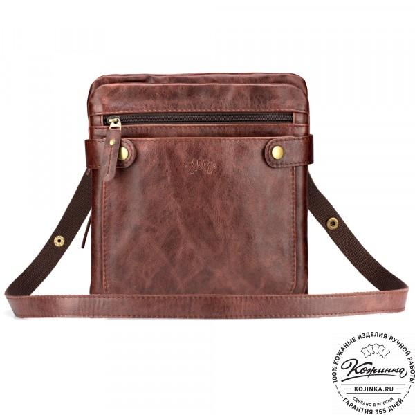 """Кожаная сумка """"Феликс"""" (коричневый антик) . фото 1"""