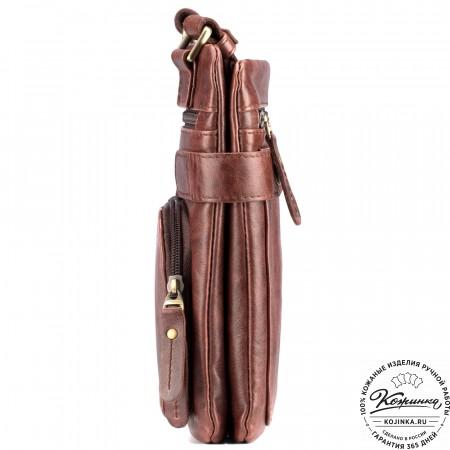 """Кожаная сумка """"Феликс"""" (коричневый антик)"""