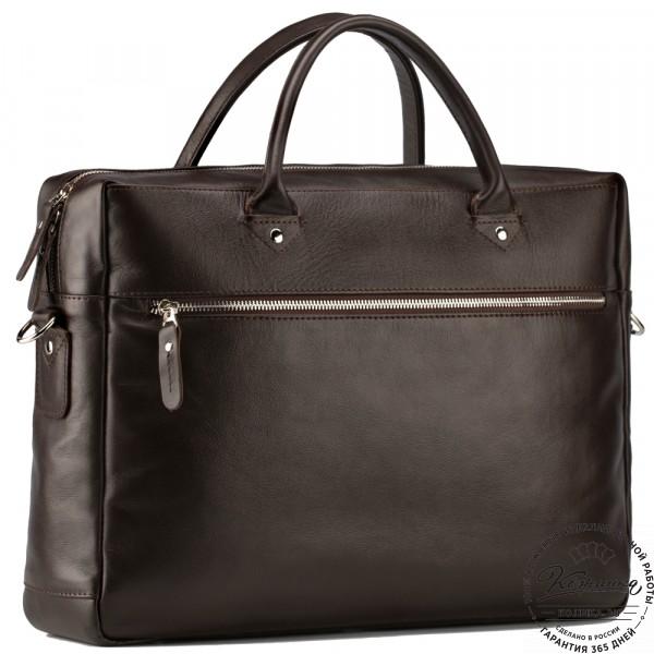 """Кожаная деловая сумка """"Спайк"""" (коричневая) . фото 1"""