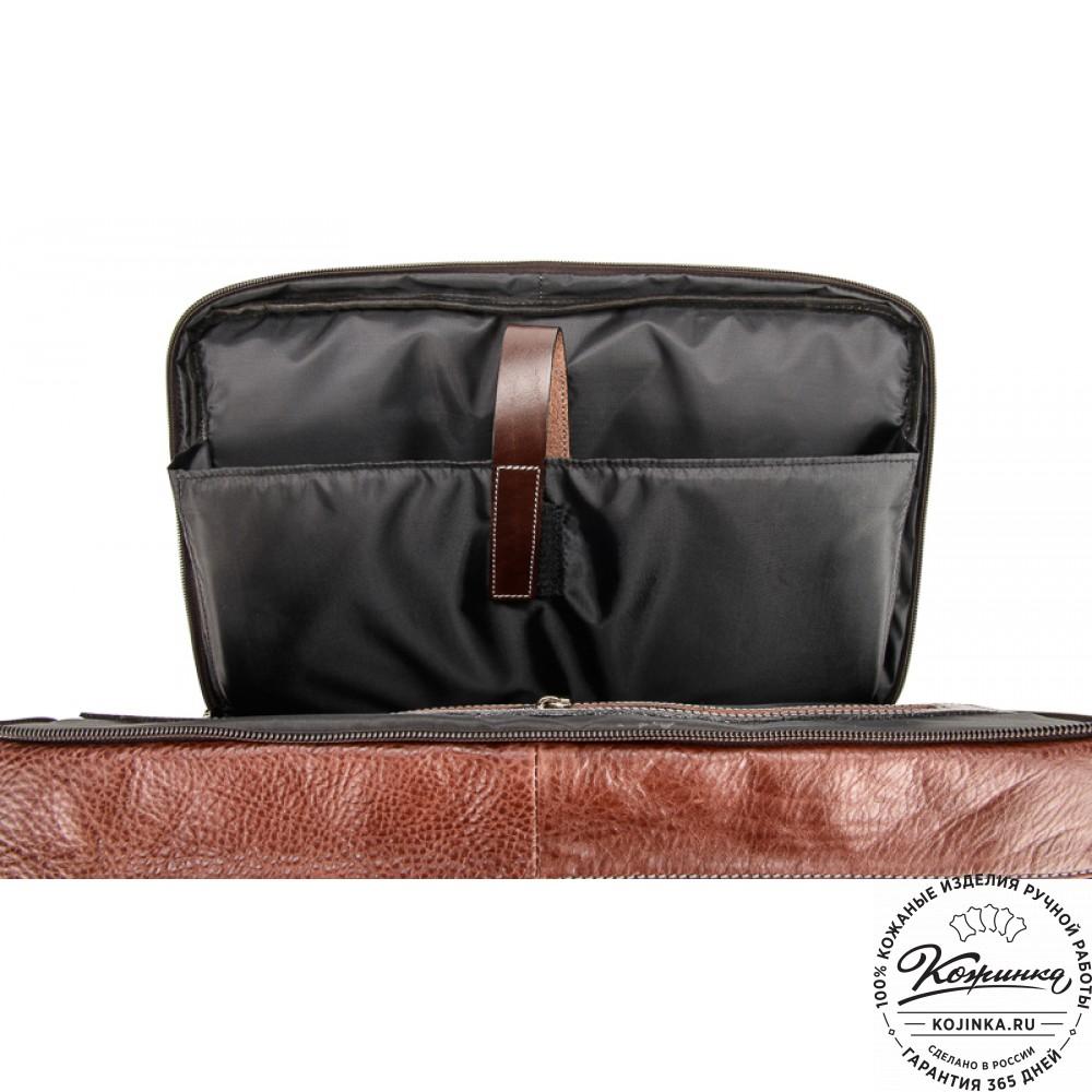 """Мужская сумка-рюкзак """"Форд"""" (коричневая)"""