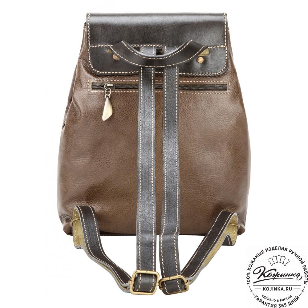 """Женский кожаный рюкзак """"Палермо"""" (оливковый)"""