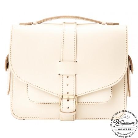 """Кожаная  сумка """"Виктория"""" (белая)"""