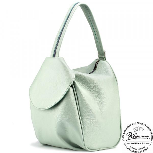 """Кожаный рюкзак-сумка """"Микки"""" (мятный). фото 1"""
