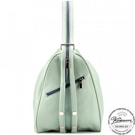"""Кожаный рюкзак-сумка """"Микки"""" (мятный)"""