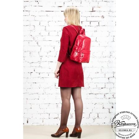 """Кожаный рюкзак """"Виолетта"""" (коричневый)"""