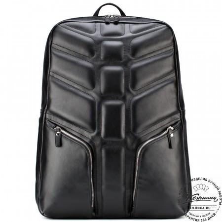 """Кожаный рюкзак """"Джейкоб"""" (чёрный)"""