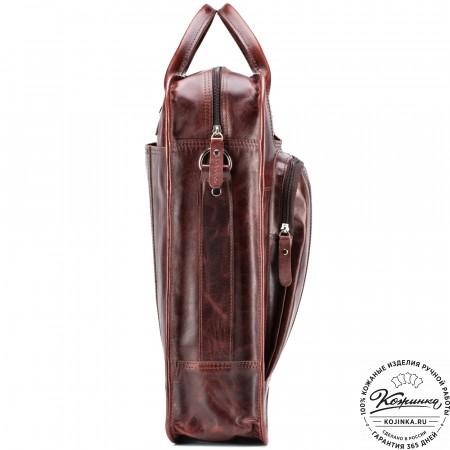 """Кожаный рюкзак-сумка """"Майкл"""" (коричневый антик)"""