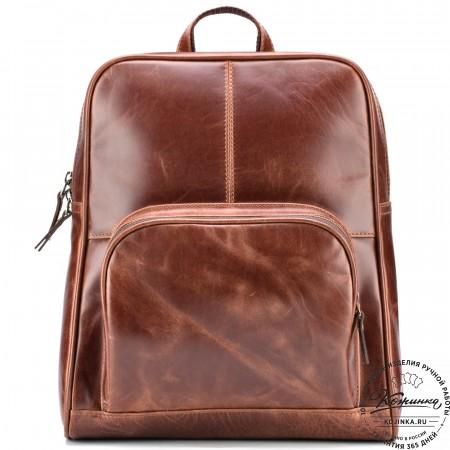 """Кожаный рюкзак """"Пандора"""" (коричневый антик)"""