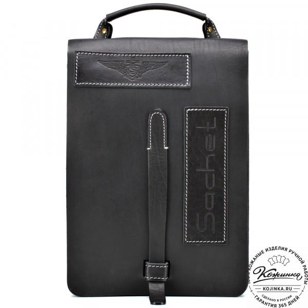 "Кожаная сумка ""Штурман"" (черная). фото 1"