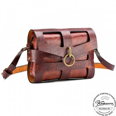 """Женская кожаная сумка """"Кортни"""" (коричневая)"""