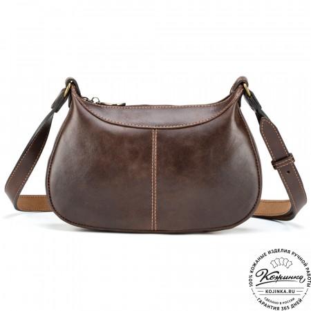 """Женская кожаная сумка """"Лоя"""" (коричневая)"""