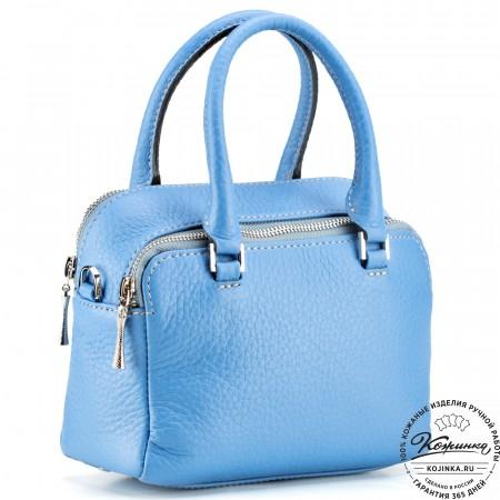"""Женская кожаная сумка """"Лолита"""" (голубая)"""