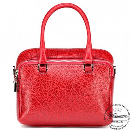 """Женская кожаная сумка """"Лолита"""" (красная)"""